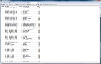 The default layout for foobar2000