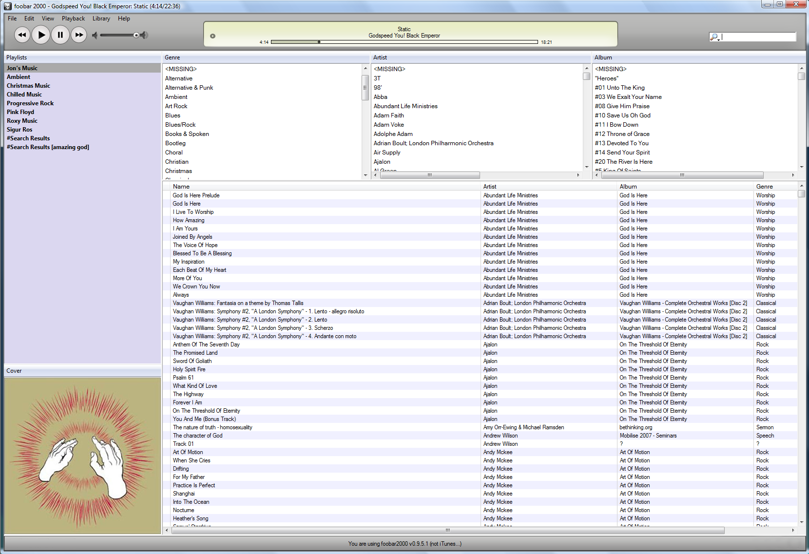 foobar2000: 5 2 Creating a ColumnsUI layout