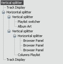 iTunes advanced layout