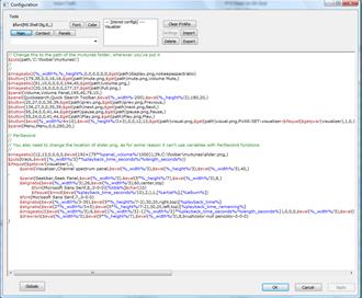 Track display script